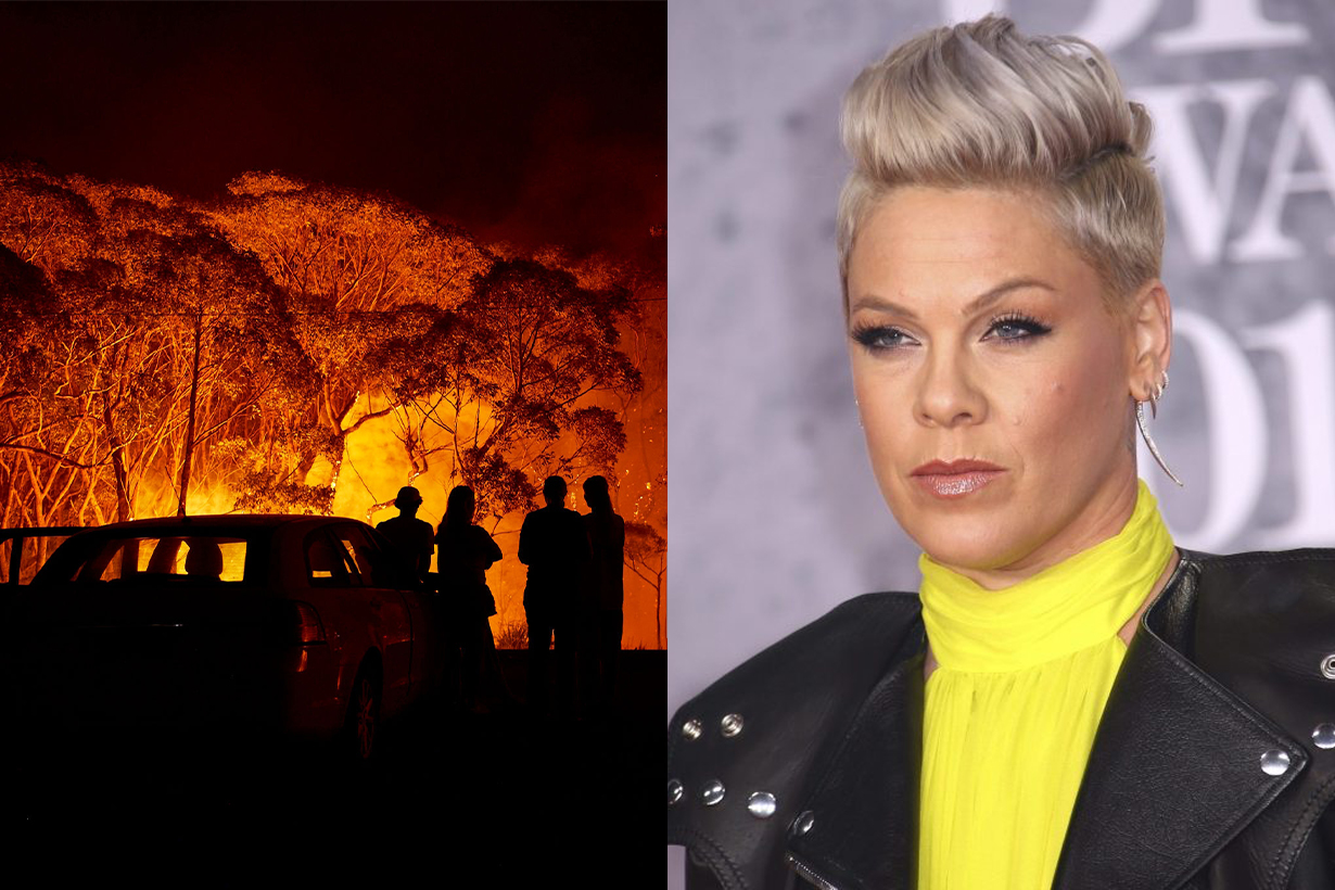 P!nk Donates $500,000 To Australia's Firefighting Services As Bushfires Worsen
