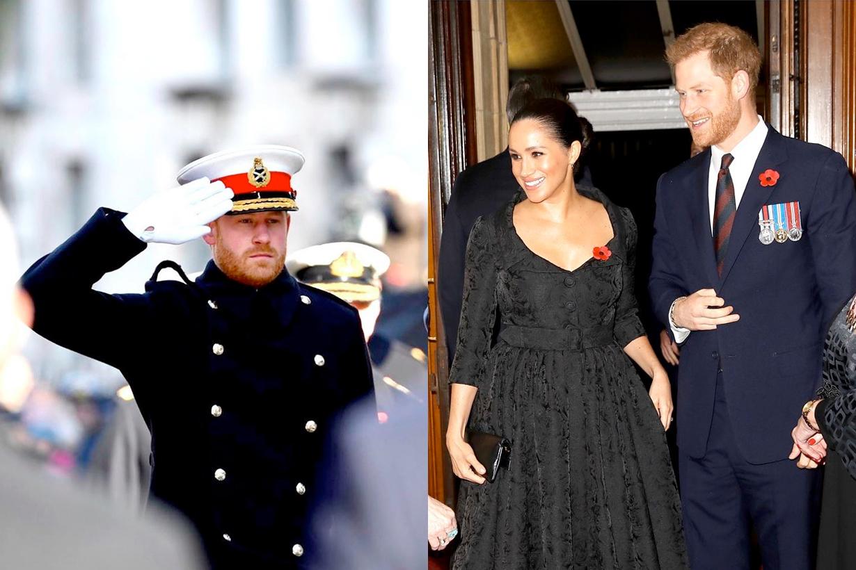 prince harry megham markle step back royal british announce