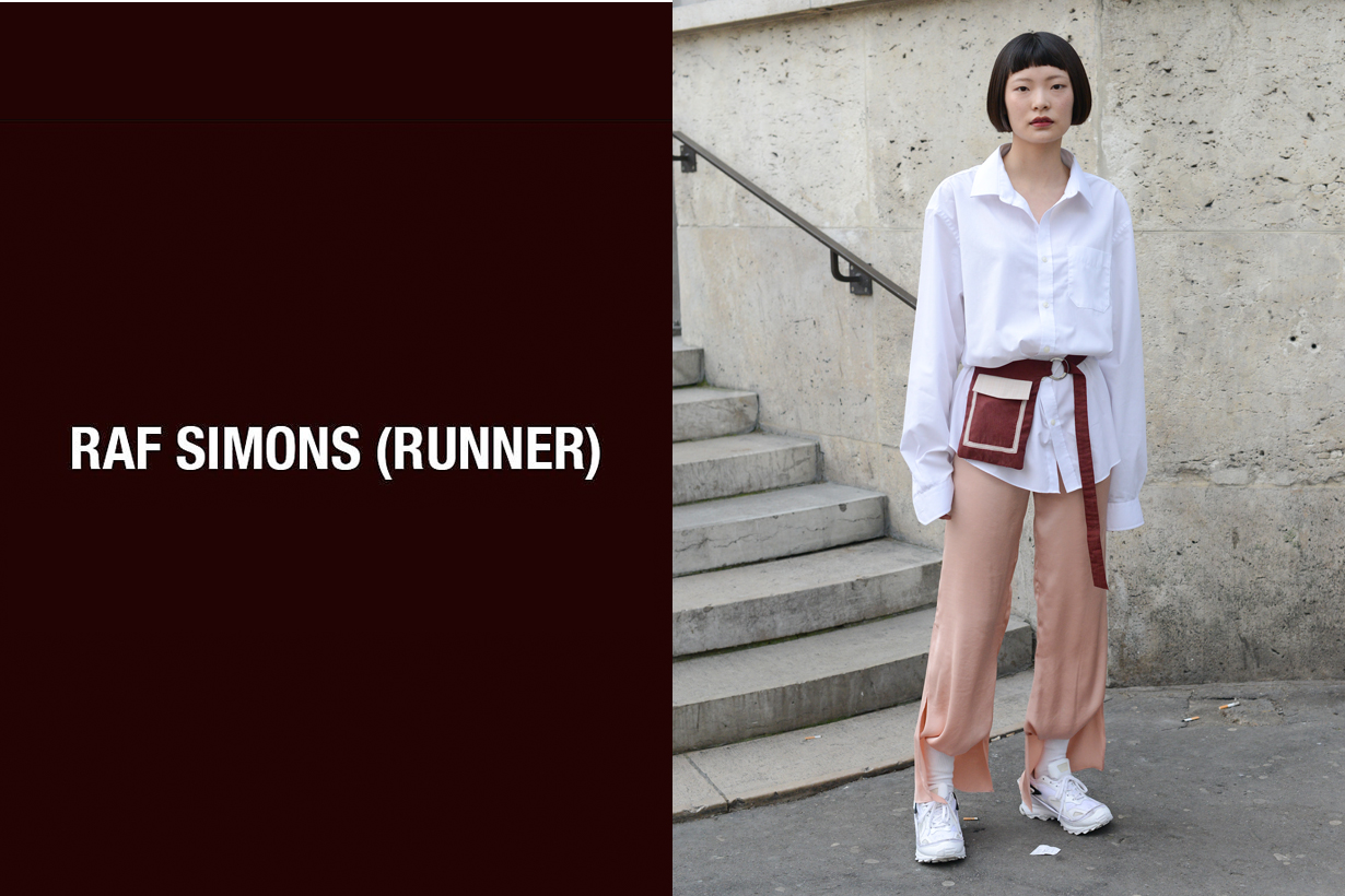 raf simons runnder new line sneaker debut paris men fashion week