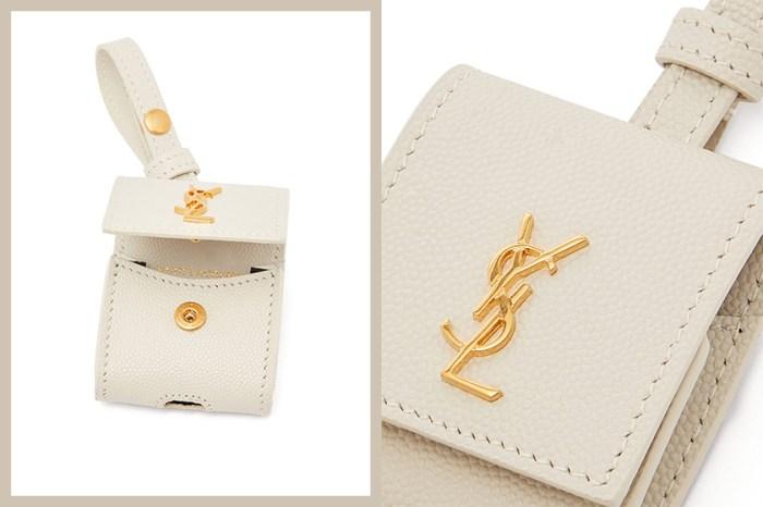 實用版 Mini Bag:Saint Laurent 這個純白 AirPods 保護套,低調中顯奢華!