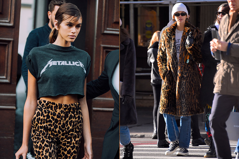 kaia gerber best animal print outfits