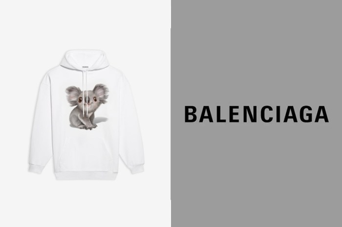 Balenciaga為了澳洲火災推出無尾熊連帽衫與 T-Shirt,將把 100 % 收益全數捐出去!