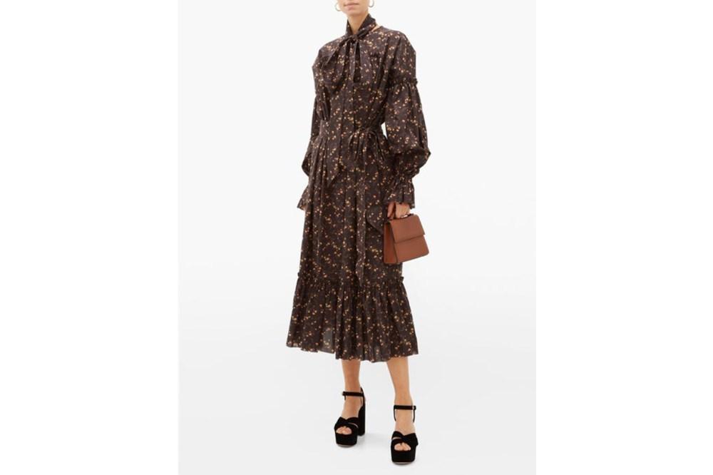 The Kaftan Floral-print Cotton Midi Dress