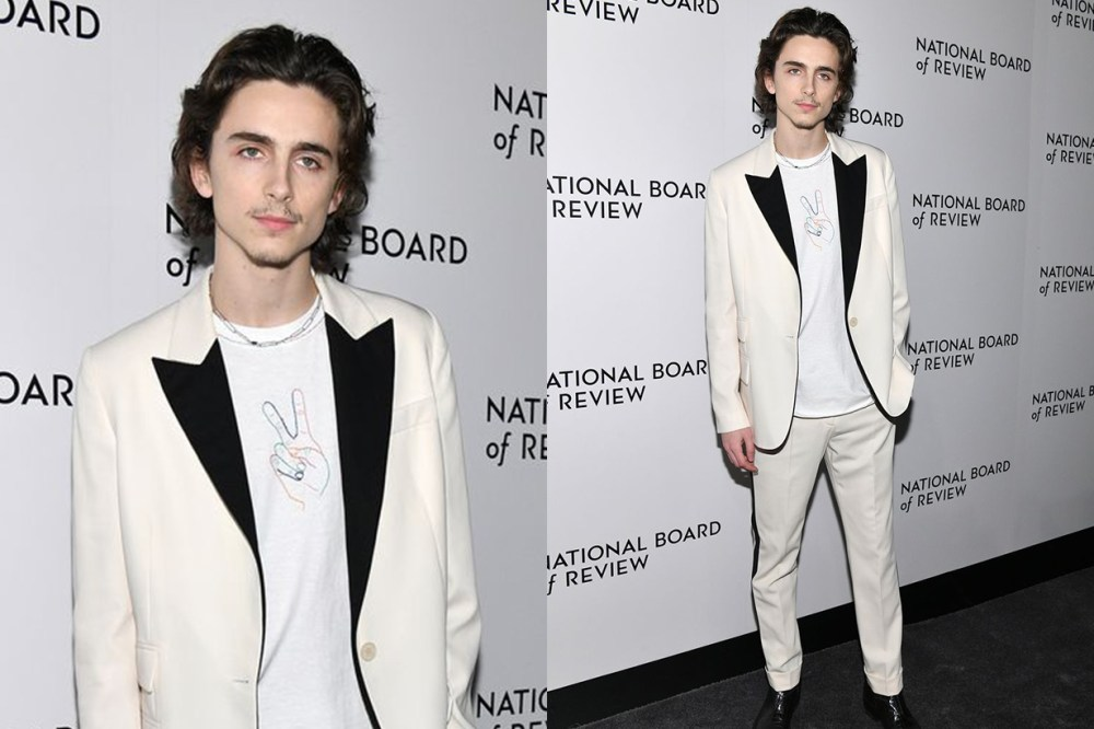 Actor Timothée Chalamet attends the 2020 National Board Of Review Gala on January 08, 2020 in New York City