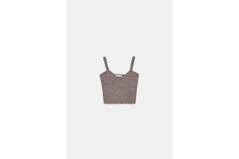 Zara Wool Blend Crop Top
