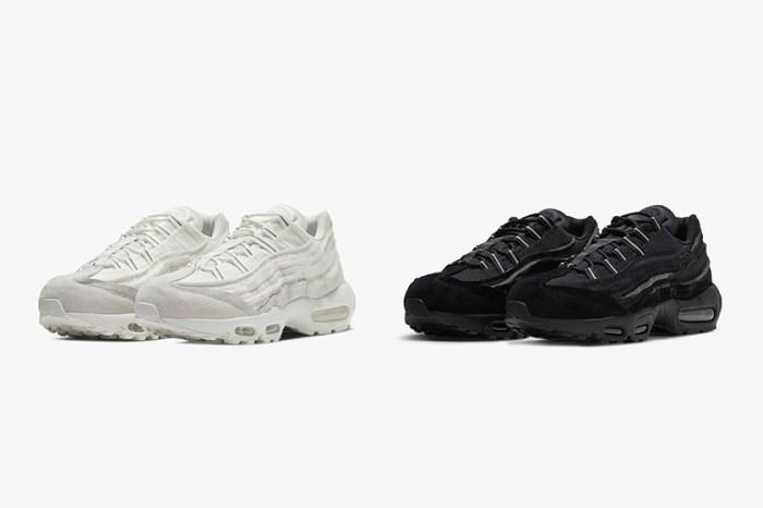 黑白極簡中藏有滿滿細節:COMME des GARÇONS x Nike 聯名推出 Air Max 95!