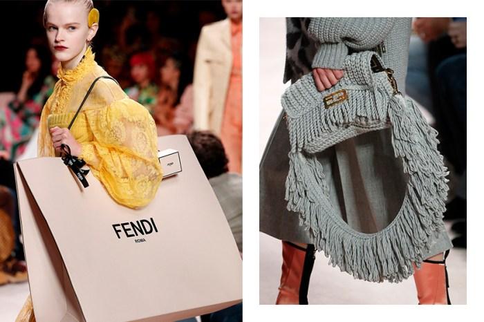 編織手袋、AirPods 保護套、超大紙袋設計:Fendi 本季推出的配件讓人無法招架!