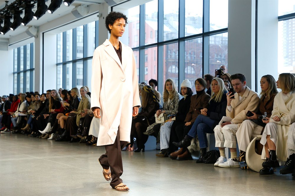 A model walks the runway for Bevza fashion show during February 2020 - New York Fashion Week: The Shows at Gallery II at Spring Studios on February 09, 2020 in New York City.