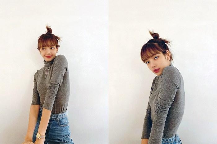 BLACKPINK Lisa 一身「學生妹」造型,出發米蘭時裝週!
