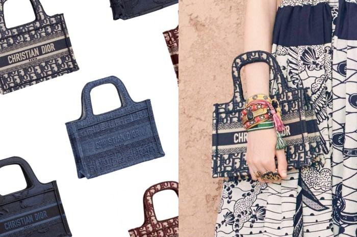 Dior 把 Book Tote 縮小了:僅有 1/2 迷你尺寸,輕巧掛手腕都時髦!