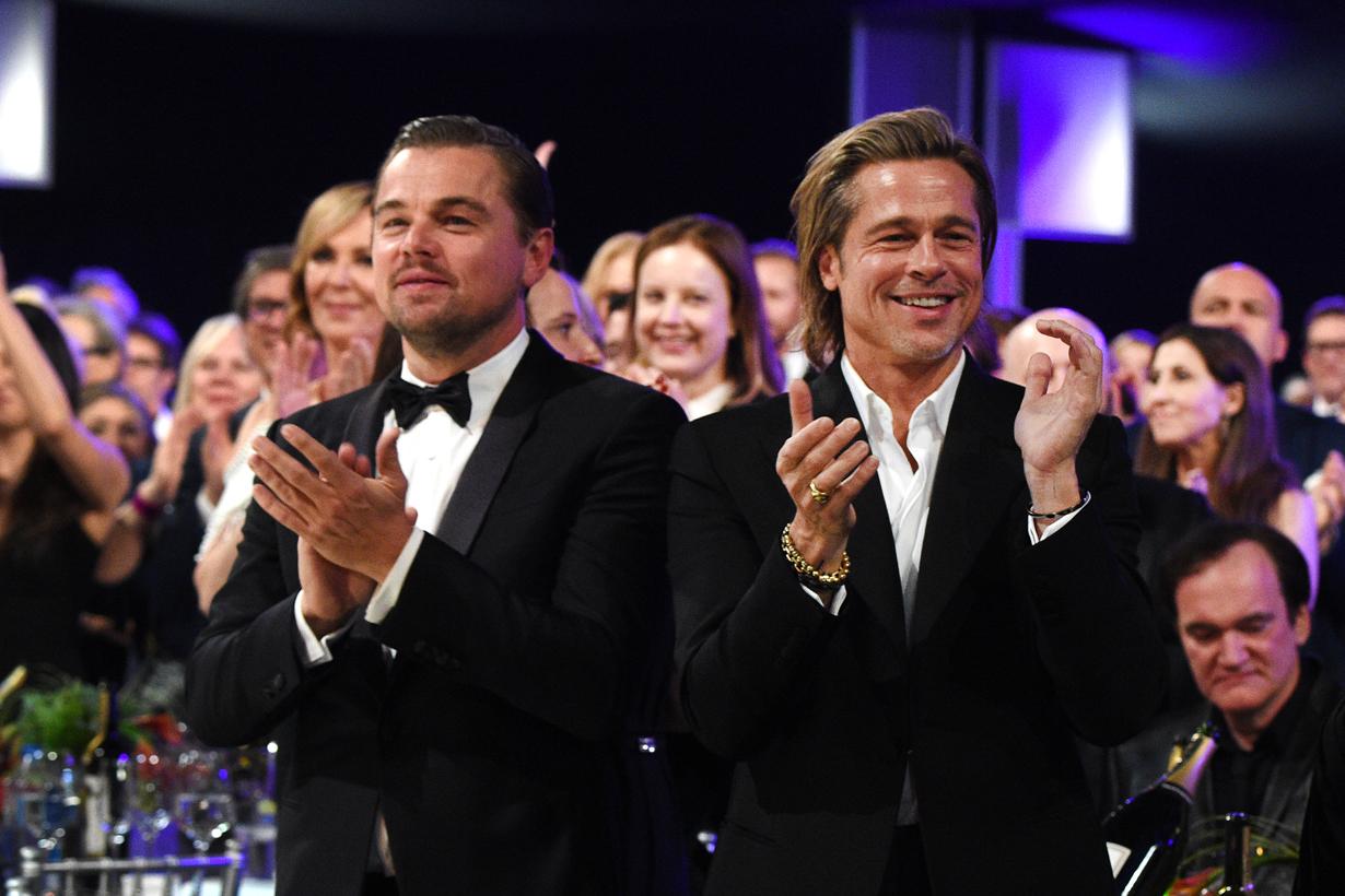 Brad Pitt Leonardo Dicaprio academy awards 2020 oscars bromance speech