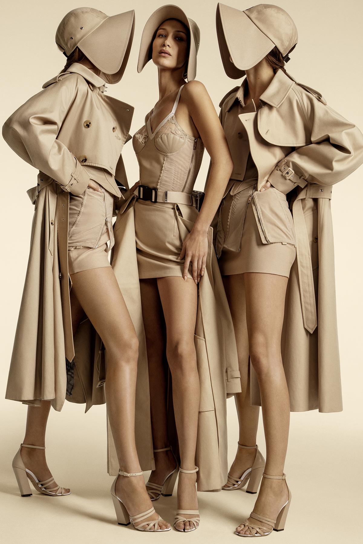 Burberry ss20 campaign Gigi Hadid Bella Hadid Kendall Jenner