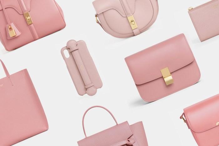 彷彿套上夢幻濾鏡:一字排開的 Celine 手袋都成了復古粉色,怎能不心動!