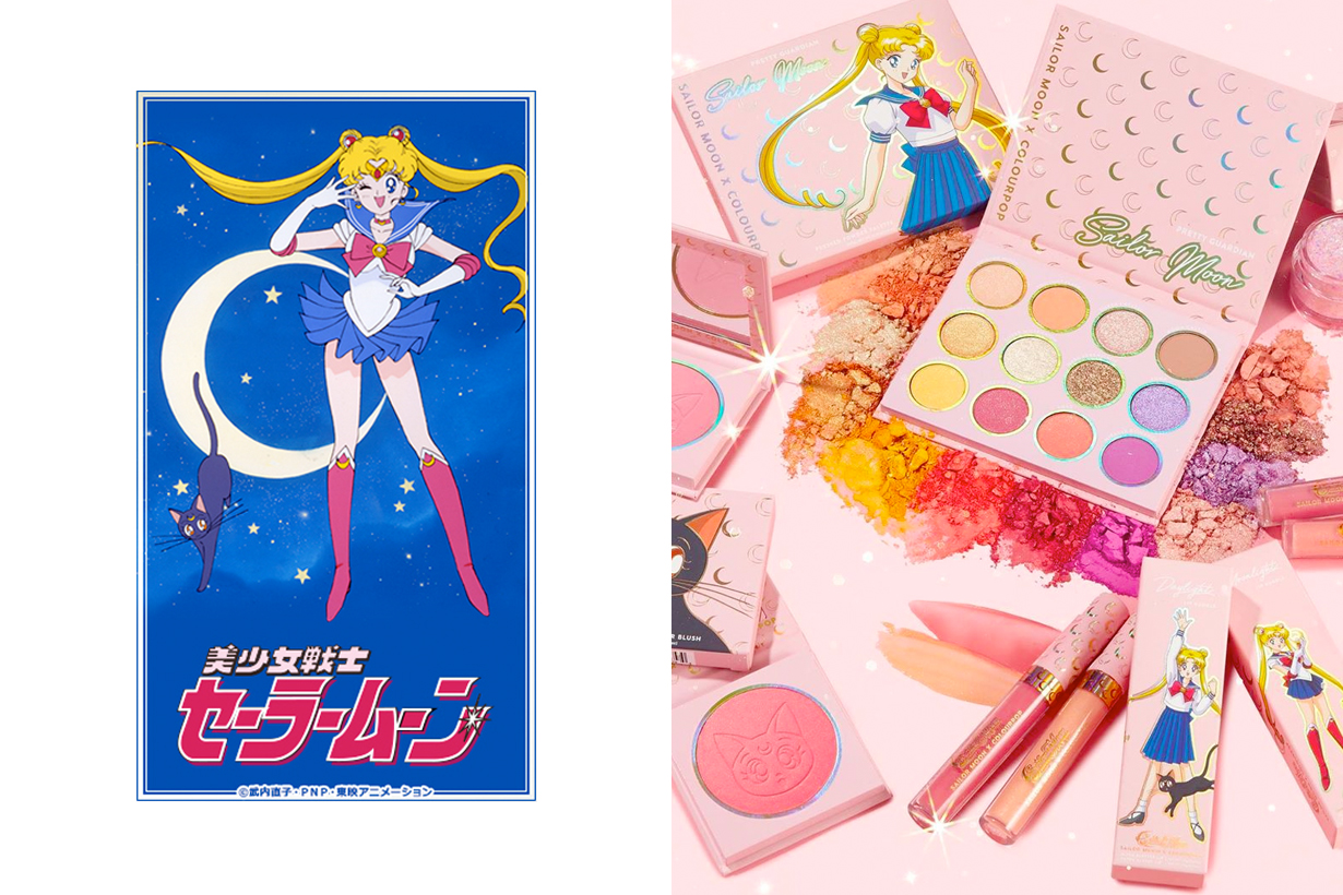 colourpop sailor moon collabration makeup palette eye lip glitter limited