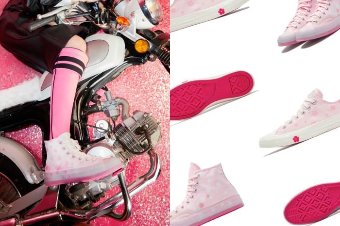 Converse 推出櫻花系列帆布鞋:幸福的淡粉色系加上灑落的櫻花,而且是女生專屬!