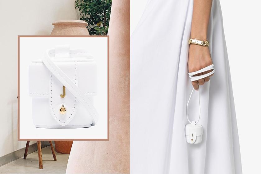jacquemus mini white le vanity bag