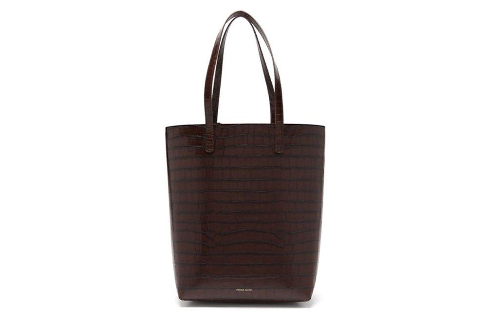 Everyday crocodile-embossed leather tote bag