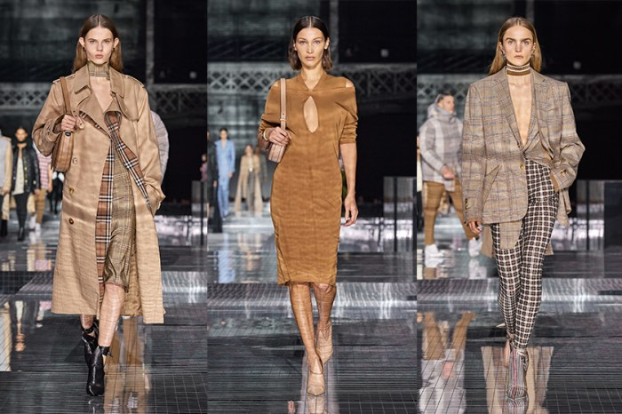 #LFW:模特緩緩穿梭於中央鏡面,Burberry 將經典如波光粼粼般倒映出來!