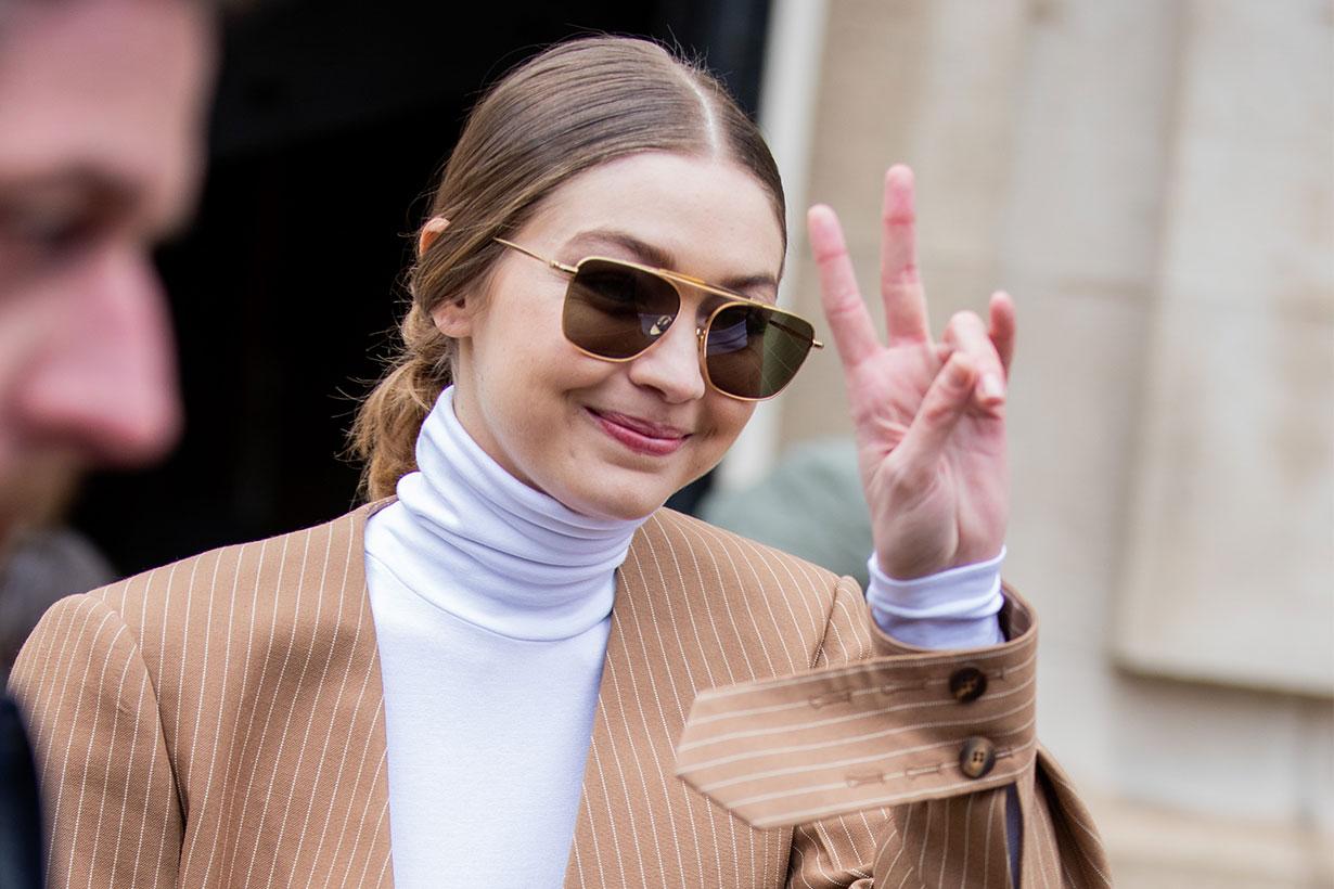Gigi Hadid Wore COS Knitwear in Milan