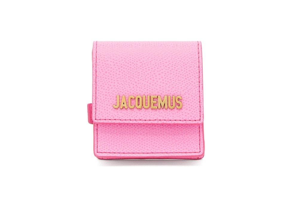 Grained-leather coin-purse bracelet