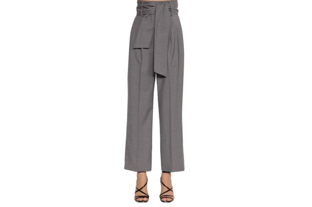 High Waisted Wide Leg Cool Wool Pants