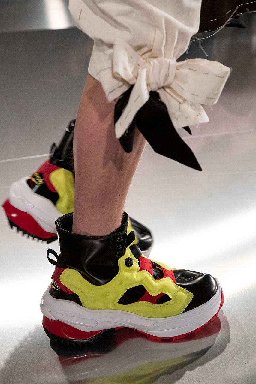 maison margiela reebok instapump fury tabi boot ss paris couture week show collection