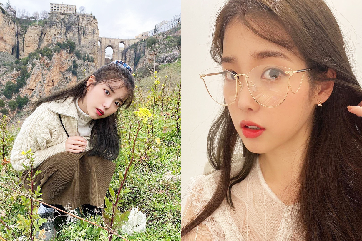 IU Lee Ji Eun Milan Fashion Week 2020 Fall Winter Gucci Cape Horsebit Handbag High Heel Boots Airport fashion style celebrities style korean idols celebrities singers actresses