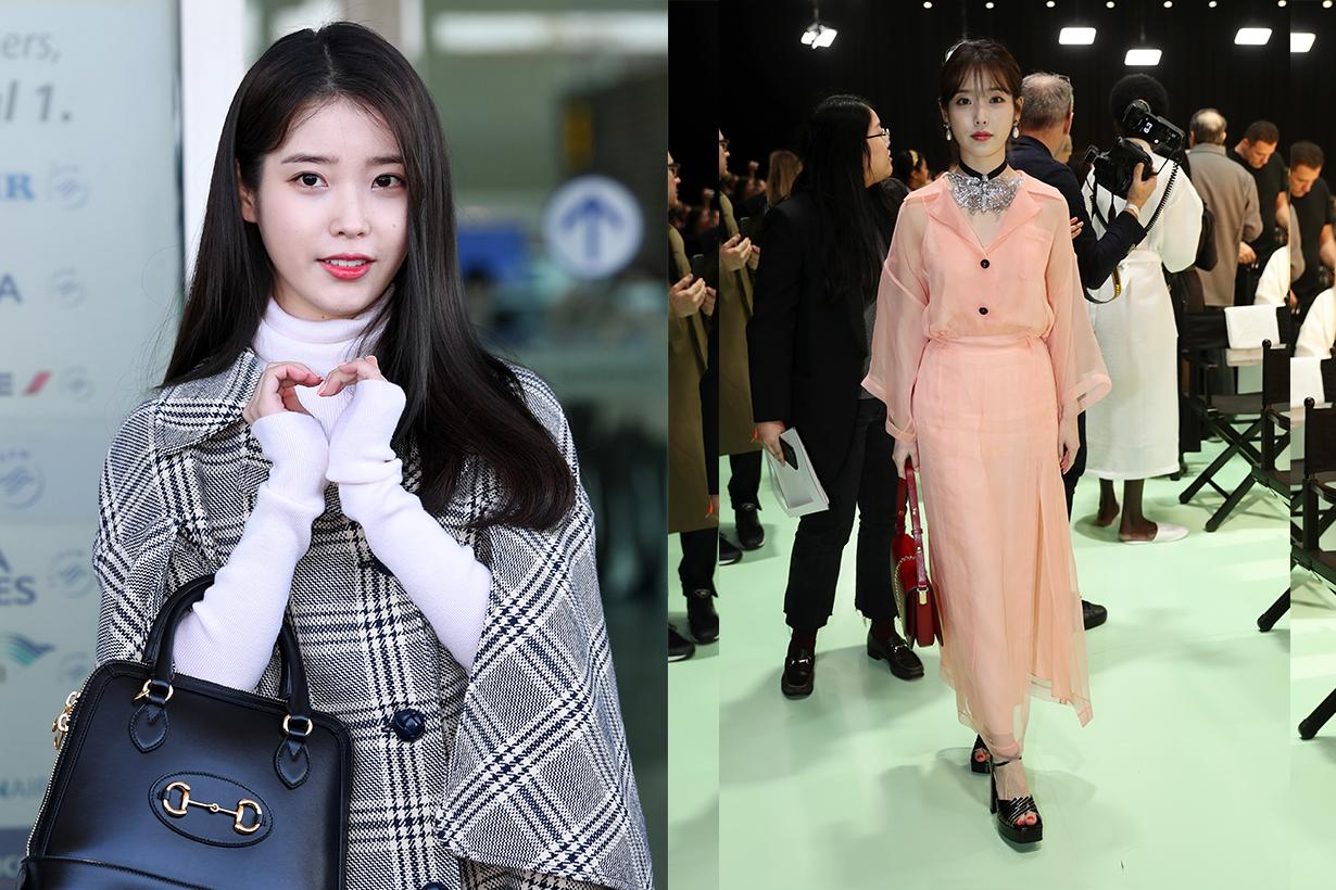 K-Pop Star IU at 2020 MFW Gucci's Front Row