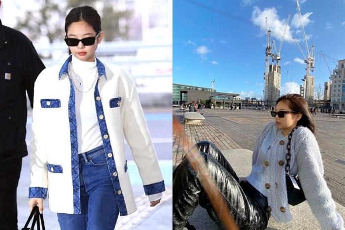 來自巴黎的輕奢品牌:針織混搭單寧,BLACKPINK Jennie 利用一件外套穿出性格!