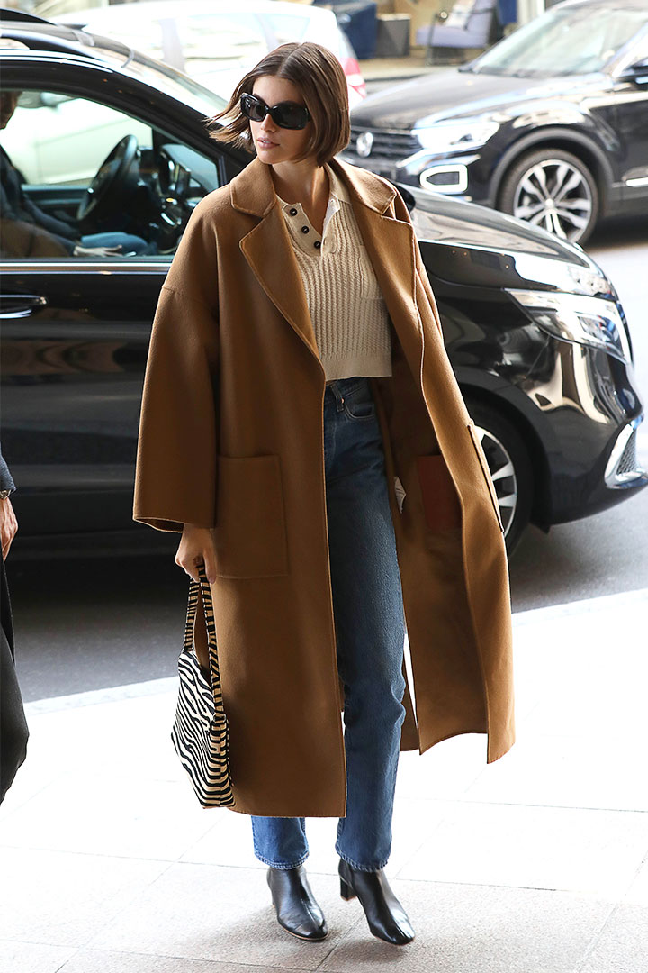 Kaia Gerber's Airport Style