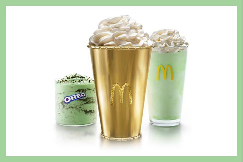 mcdonalds golden shamrock shake info