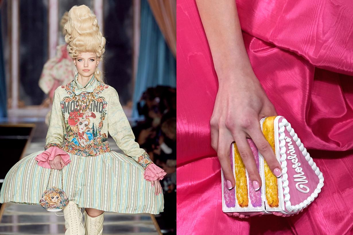moschino mfw 2020 cake japan anime Marie Antoinette jeremy scott