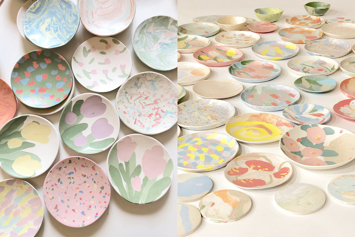 mwm_euljiro mwm Korea Cafe Ceramic Plates Coffee Seoul Cafe Workshop Marbling