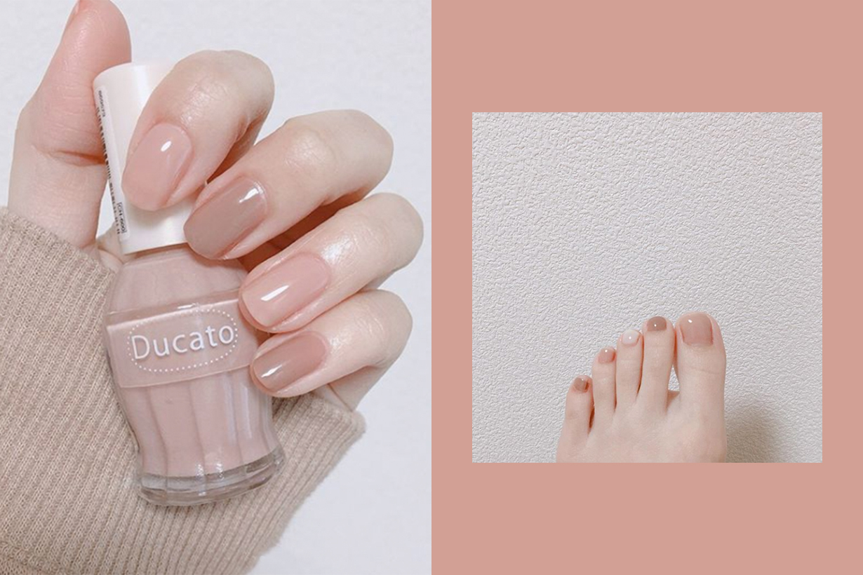nail art basic minimal color japan instagram chan8nao7