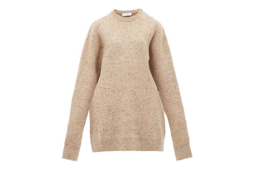 Oversized Marled Wool-blend Sweater