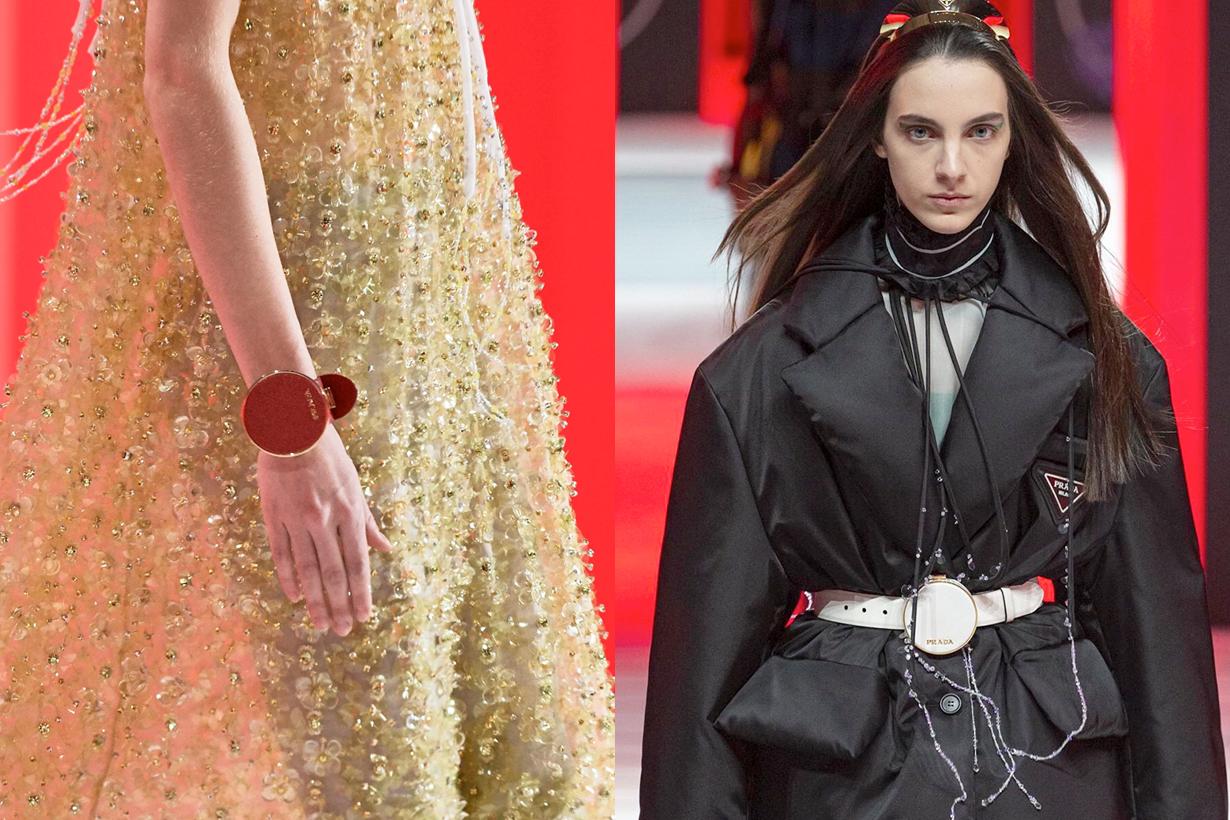 milan fashion week micro bag accessory belt necklace 2020 fw