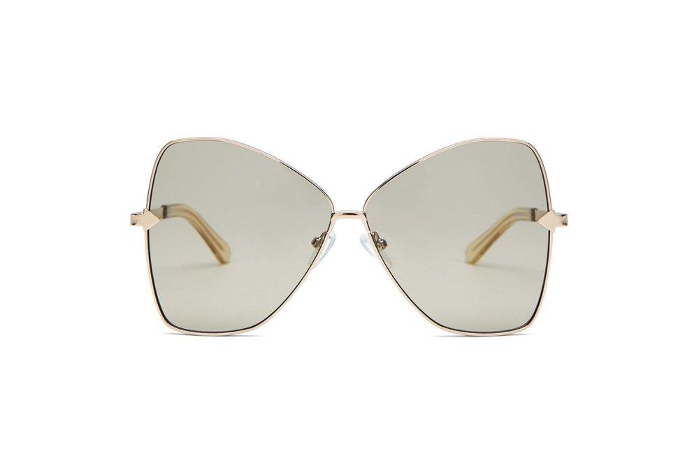 Queen butterfly-frame metallic sunglasses