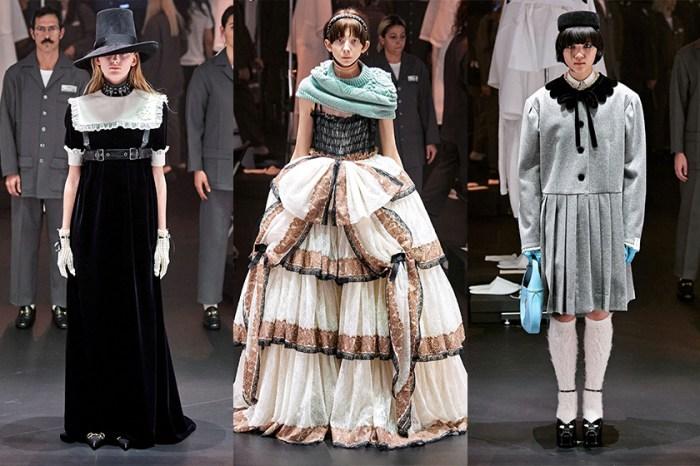 #MFW:當模特變成一個個靜止的洋娃娃,Gucci 打開復古年代的少女音樂盒!
