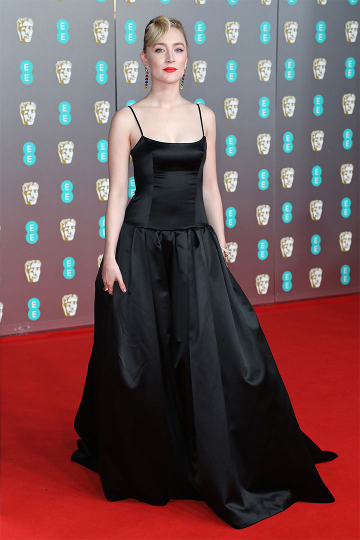 Emilia Clarke and Saoirse Ronan Wear Black Dresses on the BAFTA Red Carpet