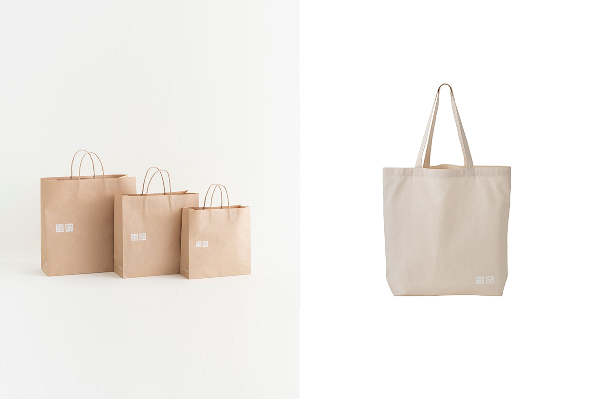 uniqlo gu shopping bag charge