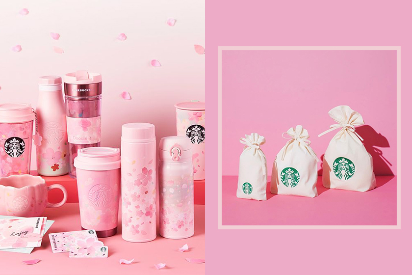 starbucks japan sakura spakles our hearts series 2020