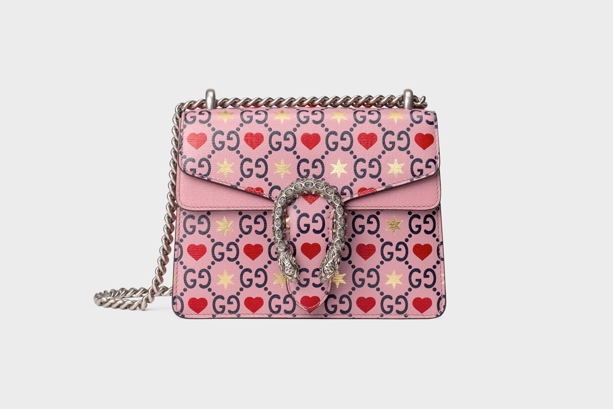 Gucci valentines day limited collection heart star Dionysu