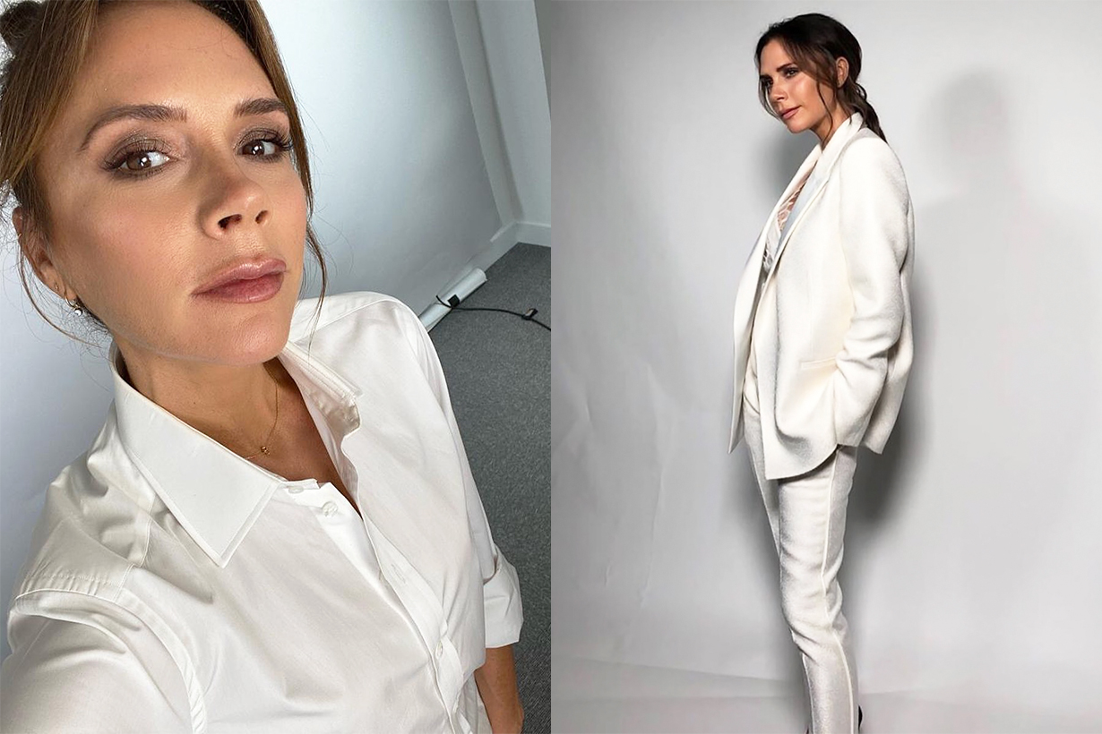 Victoria Beckham morning routine breakfast apple cider vinegar Chia seed almond milk workout exercises strong healthy body