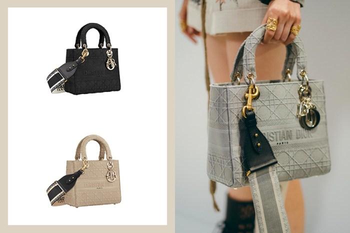 優雅隨性:Lady Dior 推出帆布、寬揹帶款式,還能寫上妳的名字!