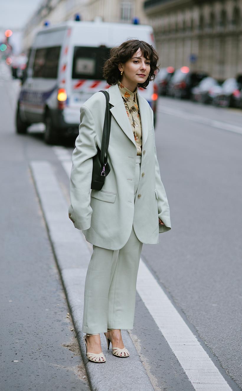 PFW Street Snap Blazer Style