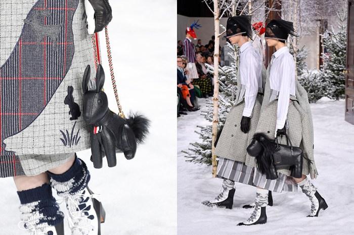 #PFW:最迷人的雙生穿搭!Thom Browne 將各種動物化身成為手袋造型!