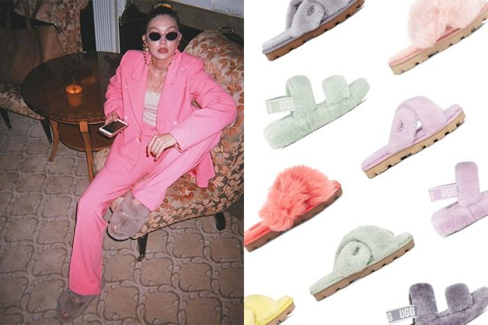 足上亮點:這雙療癒的毛絨拖鞋,Gigi Hadid、Bella Hadid 和時尚名人都在穿!