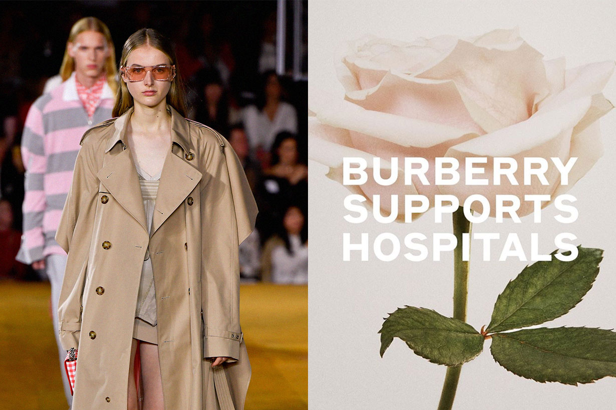Burberry Swaps Trenchcoats for Hospital Gowns, Masks in COVID-19 Battle