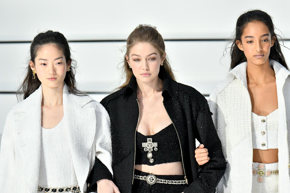 Chanel brings half-up hair back