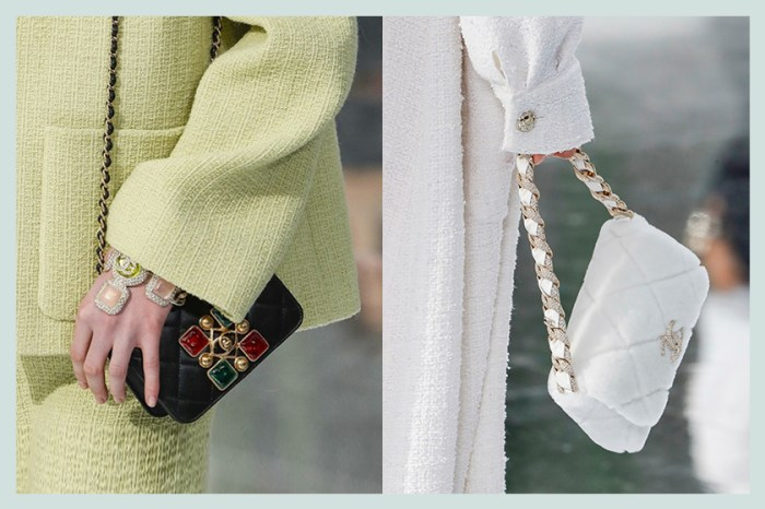 #PFW:寶石絲絨水餃包、金屬鏈旅行袋…,Chanel 秋冬手袋鑲嵌優雅細節!